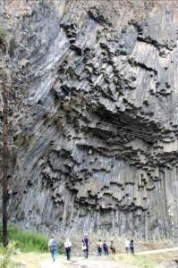 Garni columnar lava flow, 127 Ka